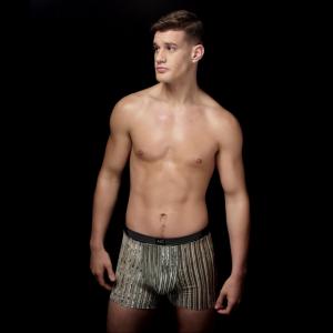 Striped mesh velvet